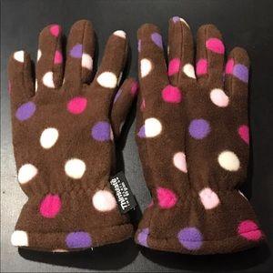 Thinsulate Insulation Brown Multi Polka Dot Gloves